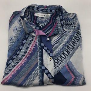 18 Alfred Dunner Retro Button Down Shirt Blouse
